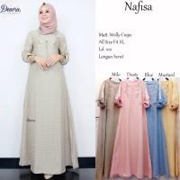 Nafisa gamis muslim cantik anggun manis