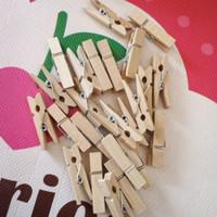 wooden clip murah