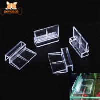 4pcs Fish Tank Aquarium Acrylic Clips Multifunctional Glass Cover Supp