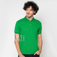 VM Polo Shirt Polos Kaos Krah Lakos M to Jumbo Big XXL hijau Pendek