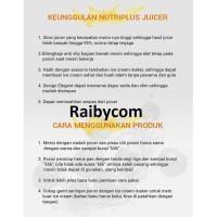 Slow Juicer Relance FREE Pisau Gunting 1 Set Juice Buah Original LEJEL