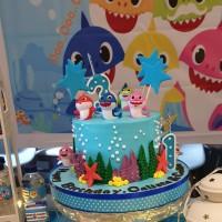 Kue Ulang Tahun Ulang Tahun Anak Ultah Baby Shark Birthday Cake Murah