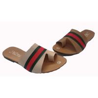 Sandal Wanita Model Teplek - Cokelat, 37