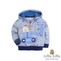 Carter's Tracktor Grey Jaket / jaket bayi laki-laki