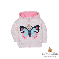arter's Butterfly Pink Polka Jaket / jaket bayi perempuan
