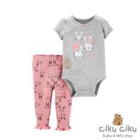 Catell 2in1 Rabbit Head Jumper / baju jumper bayi perempuan