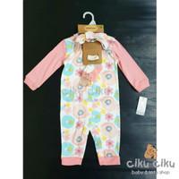 Catell 3in1 Flower Pink Jumper / baju jumper bayi perempuan