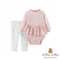 Catell 2in1 Pink Ribbon Jumper / baju jumper bayi perempuan
