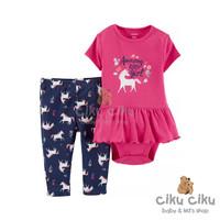 Catell 2in1 Horse Pink Jumper / baju jumper bayi perempuan