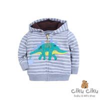 Carter's Dino Strip Grey Jaket / jaktet bayi laki-laki
