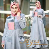 Baju Muslim Dress Hijab Baju Gamis Murah Baju Gamis Wanita Terbaru SD2