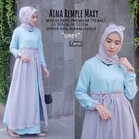 Baju Maxi Alana Dress Hijab Baju Gamis Murah Baju Gamis Wanita Terbaru
