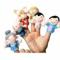 Boneka jari tangan 6 pcs / boneka jari set keluarga shp18