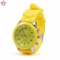 Jam tangan wanita analog geneva jm17 strap silicon cantik murah