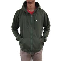 Best seller !!! Jaket Sweater Polos Hoodie Zipper/Resleting Hijau Army