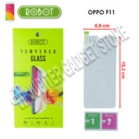 Oppo F11 Robot Tempered Glass 2.5D - Original