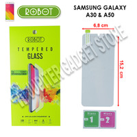 Samsung Galaxy A30 - Samsung Galaxy A50 Robot Tempered Glass 2.5D -ORI