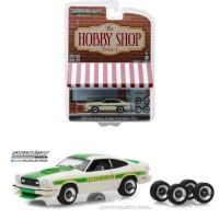 Greenlight 1/64 1978 Ford Mustang II Cobra II White Hobby Shop 5
