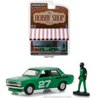 Greenlight 1/64 1970 Datsun 510 with Race Car Driver Hobby Shop 5
