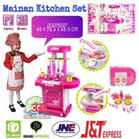 Mainan Kitchen Set Koper Anak Masak Masakan Bisa Bunyi Lampu SNI