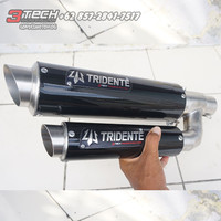 Knalpot Tridente F22 250cc 2 Cylinder Full System Stainless