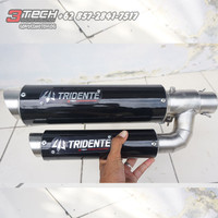 Knalpot Tridente F22 150 cc Silincer Only Stainless