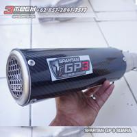Knalpot Spartan GP3 250 cc 2 Cylinder Full System Carbon