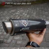 Knalpot Ronin Katana SE Bebek/Matic dibawah 150 cc Full System Carbon