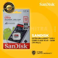 Micro SD SanDisk 32GB A1 Class 10 98MB/s ULTRA | microSD Card 32 GB