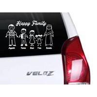 Stiker Mobil Family Stiker Cutting Kaca Mobil D7