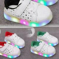 SPT40 sepatu led bintang lubang putih walker shoes lampu anak balita