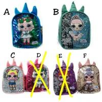 Harga tas sequin lol ransel anak bling diusap berubah warna tas fashion | antitipu.com
