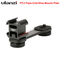 ULANZI Triple Cold Shoe Mount Extension Bracket for Gimbal Stabilizer