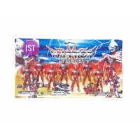 Mainan Anak Robot Ultraman Mini Warrior Super Hero 8 pcs 495-79
