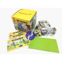 Mainan Anak Building Kit Panlos Brick Wange Designer 625 LEGO 601005
