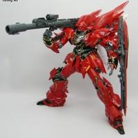 PROMO Bazooka MG Gundam Sinanju DX Hobby 2 pcs RED and GREY