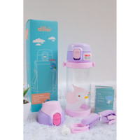 Botol Air Minum Anak Diller Tritan 100% BPA FREE SAFE DualCAP Sekolah
