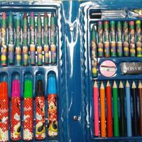 Pensil Warna Crayon Golour Pen set 42 item plus Rautan Penghapus