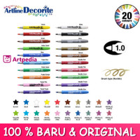ARTLINE Decorite Colours Brush Markers - Bullet tip (1.0 mm)