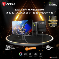 MSI Oculux NXG252R Gaming Monitor - 25 Inch FHD 240Hz 1ms G-SYNC