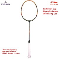 Clear Sale !! Raket Badminton Lining N99 3D Paint Chen Long Blk Orange