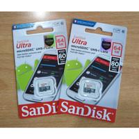 Memory Card MicroSD MIcro SD Sandisk Ultra Class 10 64GB 64 GB 80MB