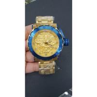 JAM TANGAN PRIA INVICTA NAGA ( DRAGON ) SUPER AAA+ GOLD BLUE