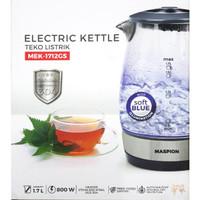 Teko Listik Mewah Kaca Tahan Panas 1.7Ltr Electric Kettle MEK-1712GS