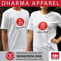 Kaos Meditation Now is Best (White)