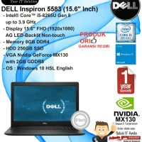 DELL Inspiron 5583 Intel Core i5-8265U/8GB/256GB SSD/VGA/DVDRW/WIN10HS