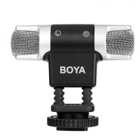 BOYA BY-MM3 - Dual-Head Stereo Recording Condenser Mini Microphone