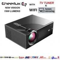 CHEERLUX C7 WiFi and TV Tuner - Mini LED Projector 1500 Lumens 1080p