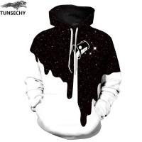 TUNSECHY Hot Mode PriaWanita 3D Kaus Cetak Susu Ruang Galaxy