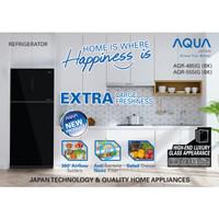 AQUA JAPAN KULKAS 2PINTU GLASSDOOR - AQR-555IG [FREE ONGKIR JADETABEK]